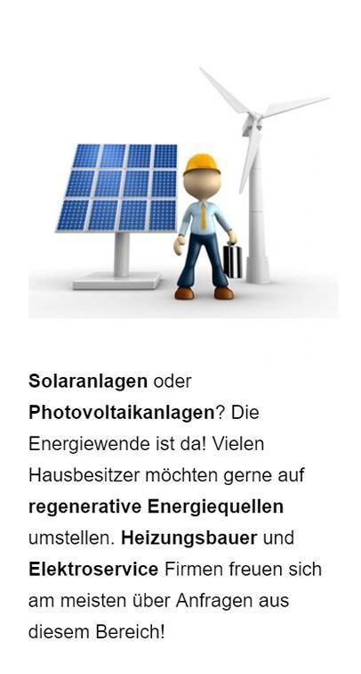 Solaranlagen Anbieter Werbung für  Leobersdorf